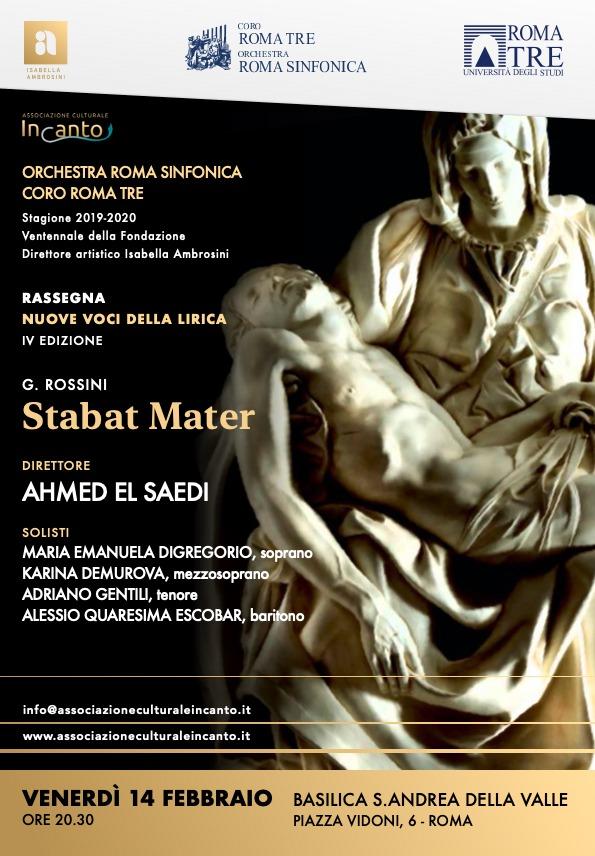 """A Roma il concerto """"Incanto"""" con """"L'orchestra Roma Sinfonica Coro Roma Tre""""."""