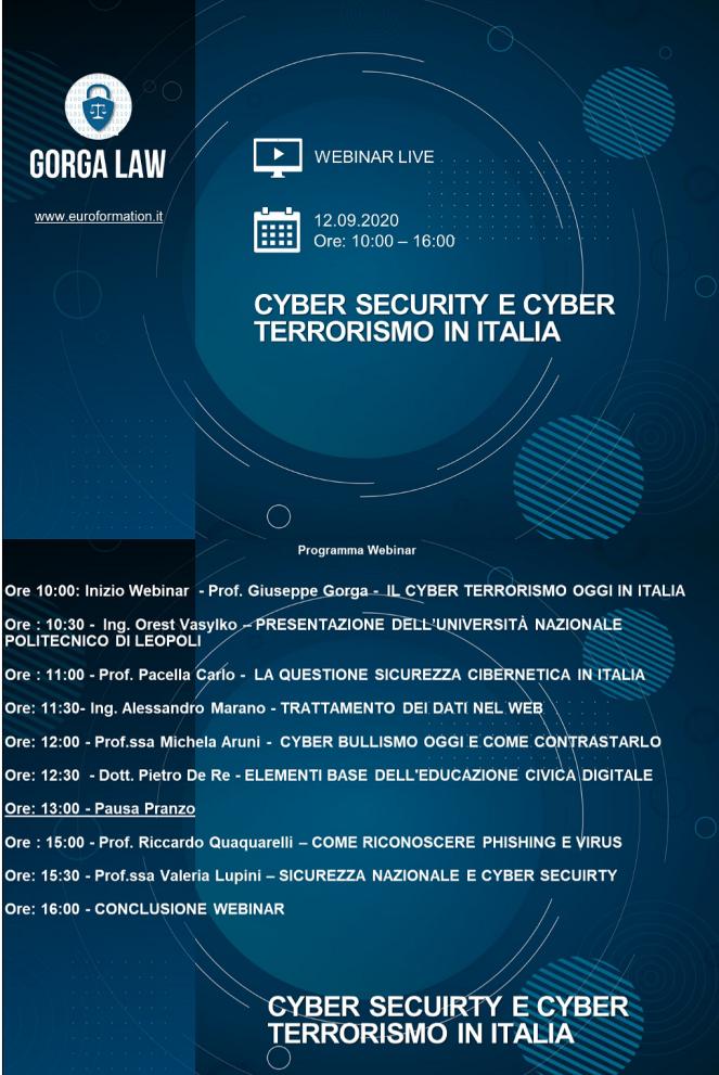 EuroFormation e-learning su Cyber Terrorismo