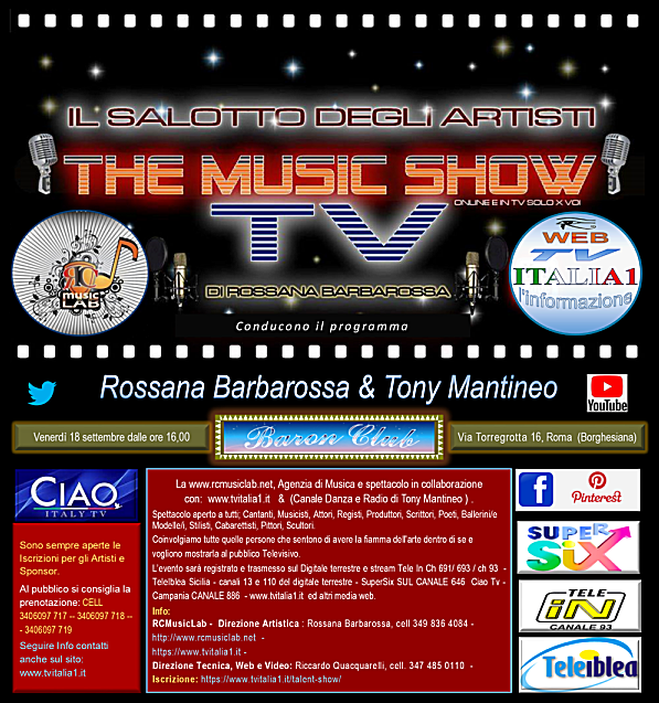 "THE MUSIC SHOW ""IL SALOTTO DELL'ARTISTA IN TV"""