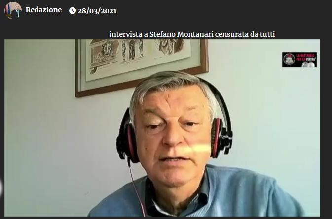 Intervista a Stefano Montanari censurata da tutti